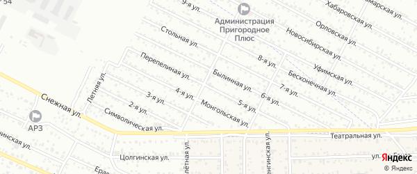 Улица 5-я (СНТ Профсоюзник) на карте Улан-Удэ с номерами домов