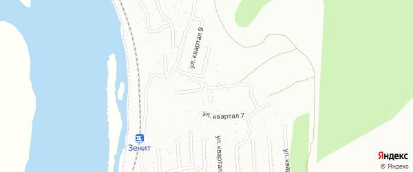 Микрорайон Тепличный квартал 8 на карте Улан-Удэ с номерами домов