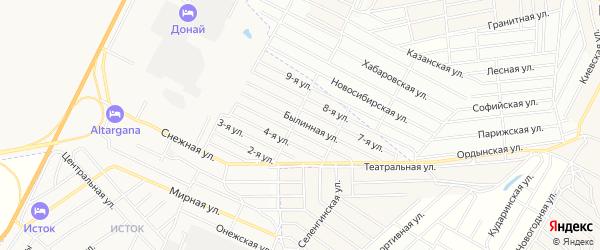 Территория ДНТ Сокол 2 Совет. р-он на карте Улан-Удэ с номерами домов