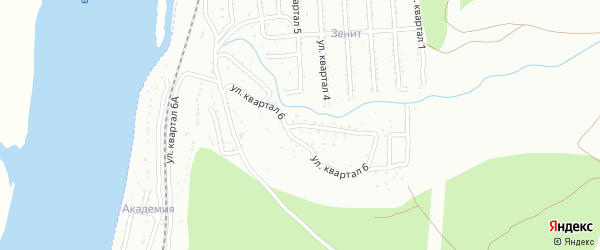 Микрорайон Тепличный кв-л 6 на карте Улан-Удэ с номерами домов