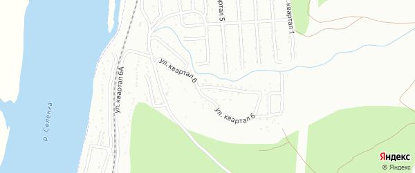 6-й квартал на карте Улан-Удэ с номерами домов