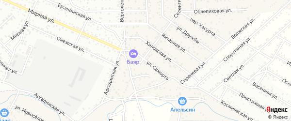 Улица Сахюрта квартал Северный на карте села Сужа с номерами домов