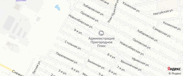 Улица 9-я (ДНТ Современник) на карте Улан-Удэ с номерами домов