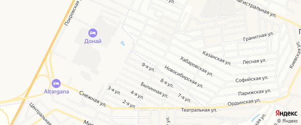Территория ДНТ Восток на карте села Поселье с номерами домов