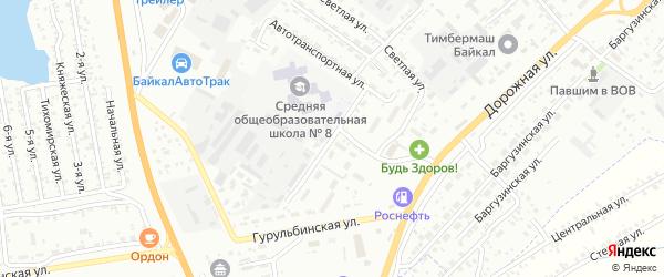 Автотранспортная улица на карте Улан-Удэ с номерами домов