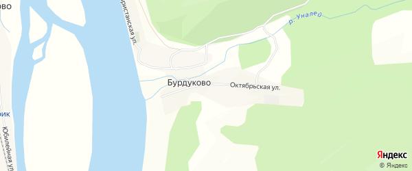 Карта села Бурдуково в Бурятии с улицами и номерами домов