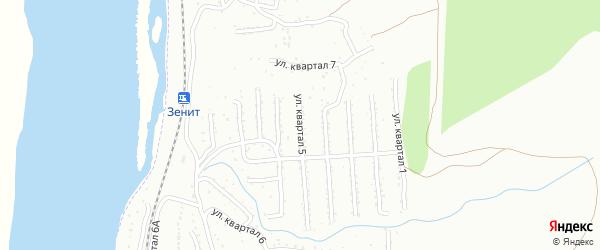 Микрорайон Тепличный кв-л 5 на карте Улан-Удэ с номерами домов