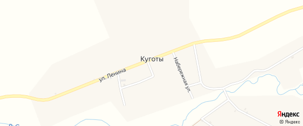 Подлесная улица на карте села Куготы с номерами домов