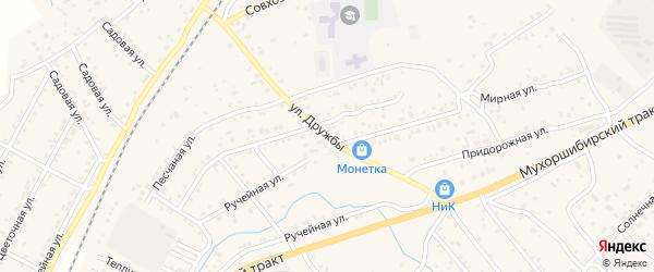 Улица Дружбы на карте села Нижнего Саянтуя с номерами домов