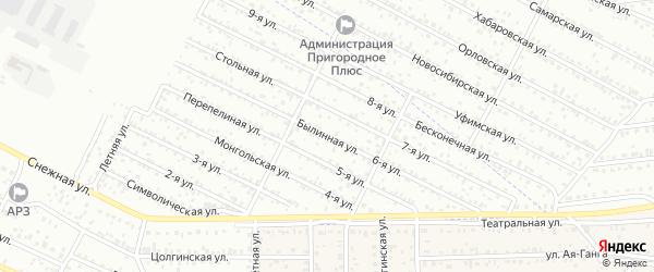 Улица 6-я (СНТ Урожай) на карте Улан-Удэ с номерами домов