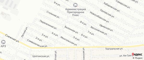 Улица 6-я 12 квартал (СНТ Авиатор) на карте Улан-Удэ с номерами домов