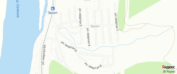 4-й квартал на карте Улан-Удэ с номерами домов
