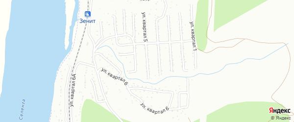 Микрорайон Тепличный кв-л 4 на карте Улан-Удэ с номерами домов