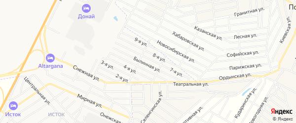 Территория ДНТ Сокол на карте улуса Хойтобэе с номерами домов