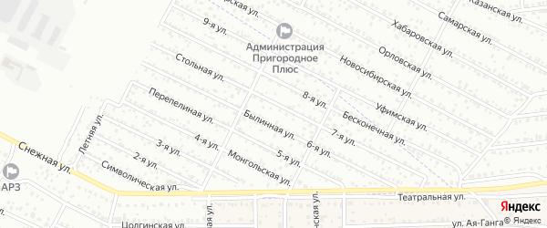 Садоводская улица на карте территории Сокола с номерами домов