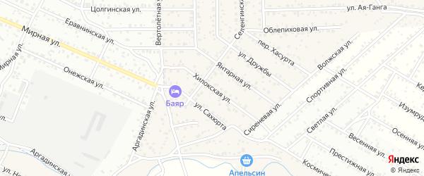 Улица Хилокская квартал Северный на карте села Сужа с номерами домов