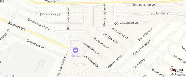 Улица Селенгинская квартал Северный на карте села Сужа с номерами домов