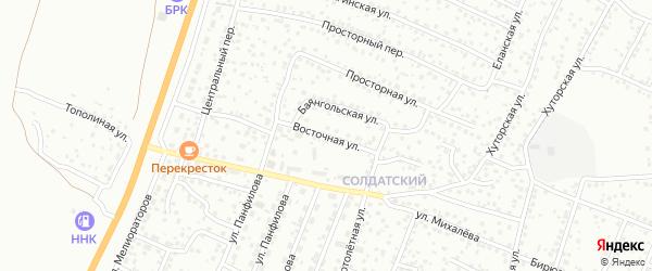 Восточная улица на карте Улан-Удэ с номерами домов