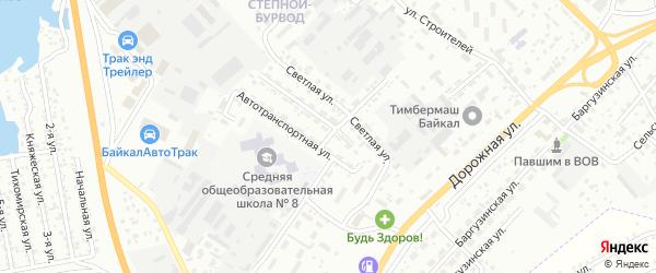 Светлая улица на карте Улан-Удэ с номерами домов