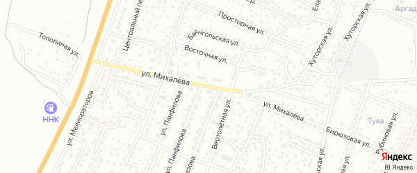 Улица Михалева на карте Улан-Удэ с номерами домов
