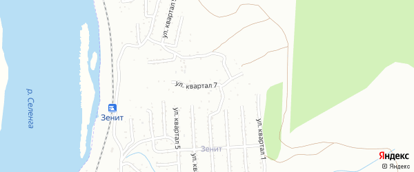 7-й квартал на карте Улан-Удэ с номерами домов