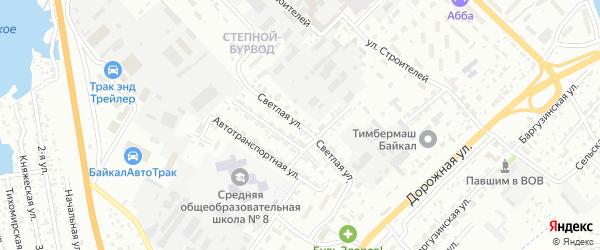 Улица Светлая (ДНТ Оптимист) на карте Улан-Удэ с номерами домов
