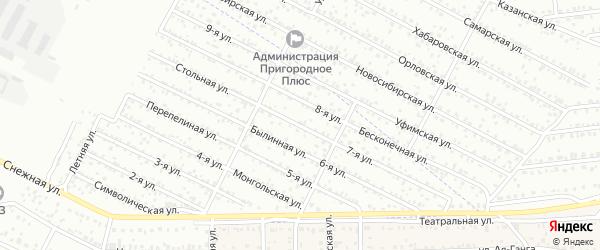 7-я улица на карте территории СНТ Профсоюзника с номерами домов