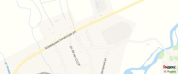 Животноводческая улица на карте села Комы с номерами домов