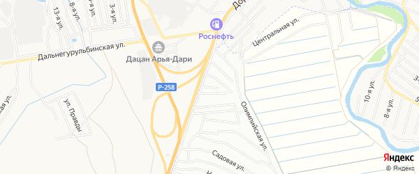 Территория ДНТ Оер Оерский на карте Иволгинского района с номерами домов