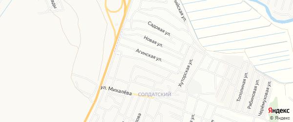 Территория ДНТ Таежный-2 Просторный на карте Иволгинского района с номерами домов