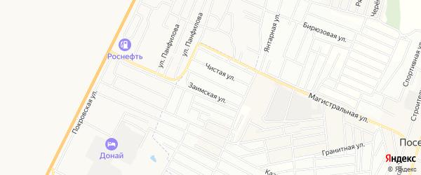 Территория ДНТ Джидинское на карте села Поселье с номерами домов