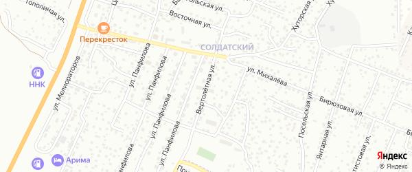 Вертолетная улица на карте Улан-Удэ с номерами домов