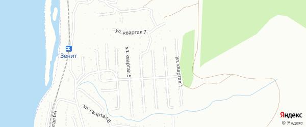 2-й квартал на карте Улан-Удэ с номерами домов