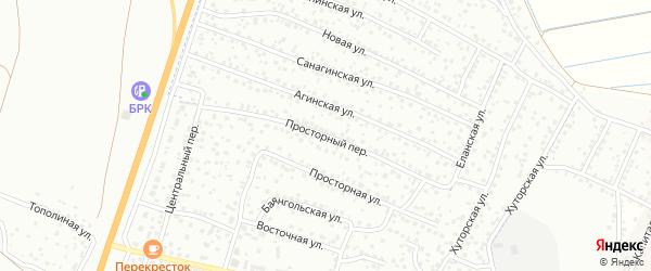 Просторный переулок на карте Улан-Удэ с номерами домов