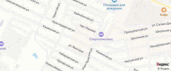 Улица Нашира на карте села Поселье с номерами домов