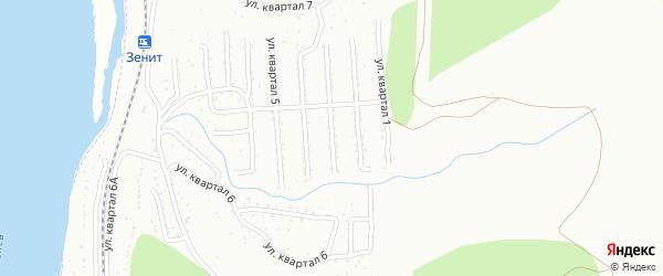 3-й квартал на карте Улан-Удэ с номерами домов