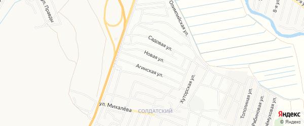 ДНТ Таежный-2 Санагинская территория на карте Иволгинского района с номерами домов