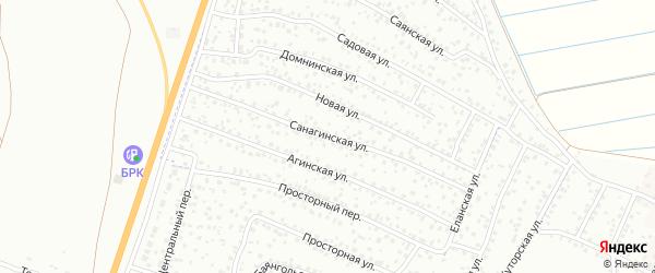 Санагинская улица на карте Улан-Удэ с номерами домов