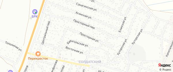 Просторная улица на карте Улан-Удэ с номерами домов