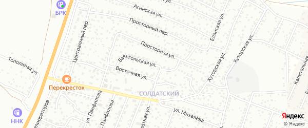 Баянгольская улица на карте Улан-Удэ с номерами домов