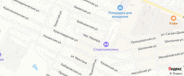 Переулок Нашира на карте села Поселье с номерами домов