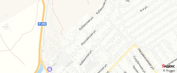Российская улица на карте Улан-Удэ с номерами домов