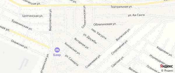 Улица Дружбы квартал Северный на карте села Сужа с номерами домов