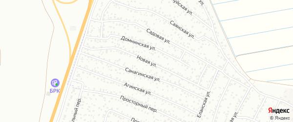 Новая улица на карте территории ДНТ Таежный-2 с номерами домов