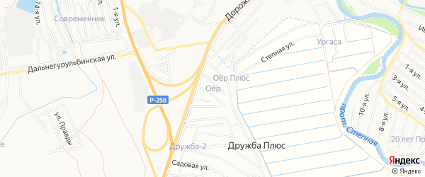 Территория ДНТ Оер на карте Иволгинского района с номерами домов