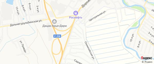 ДНТ Оер Алтанская территория на карте Иволгинского района с номерами домов