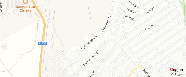 Кубанская улица на карте села Сотниково с номерами домов