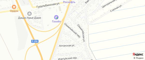 Олимпийский переулок на карте Улан-Удэ с номерами домов