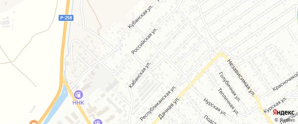Кабанский переулок на карте Улан-Удэ с номерами домов