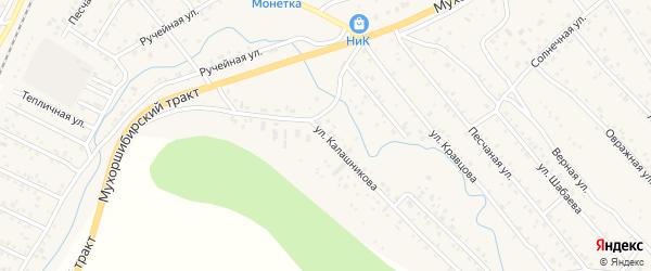 Улица Калашникова на карте села Нижнего Саянтуя с номерами домов